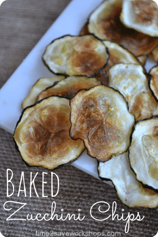 AdvoCare Snack Ideas: Baked Zucchini Chips on time2saveworkshops.com