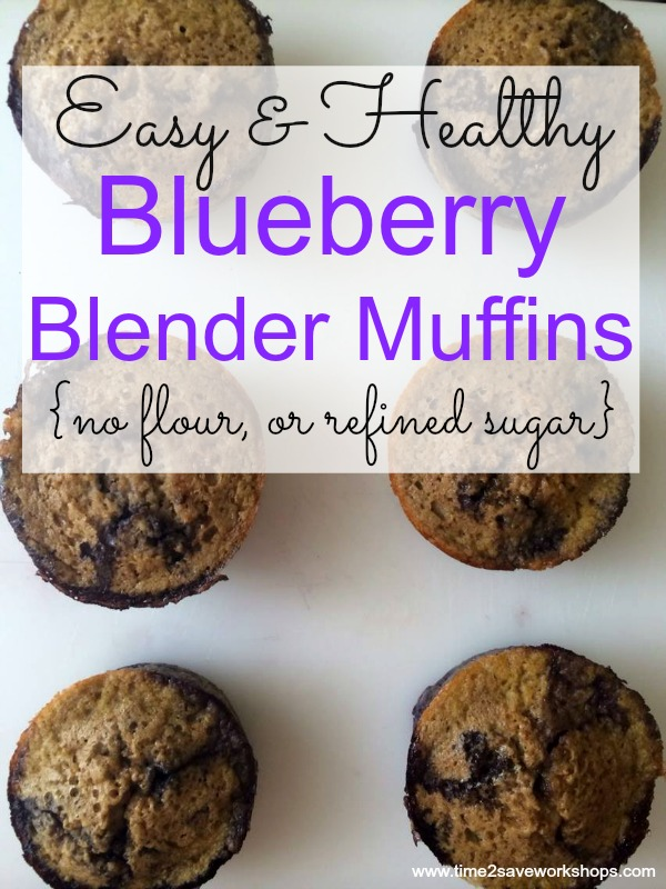 Make our easy Blueberry Blender Muffins in just a few minutes time!  These great sugar-free muffins are ideal for a diabetic or someone who is gluten free!