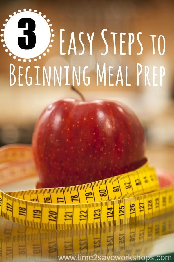 beginning meal prep