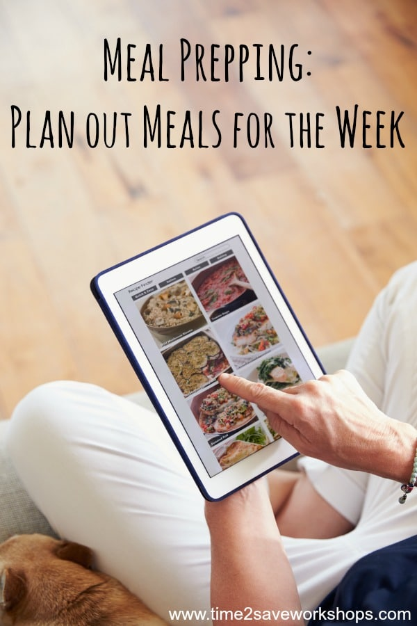 plan meals for the week