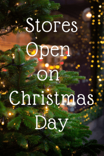 Image of Store Opening for Christmas Day