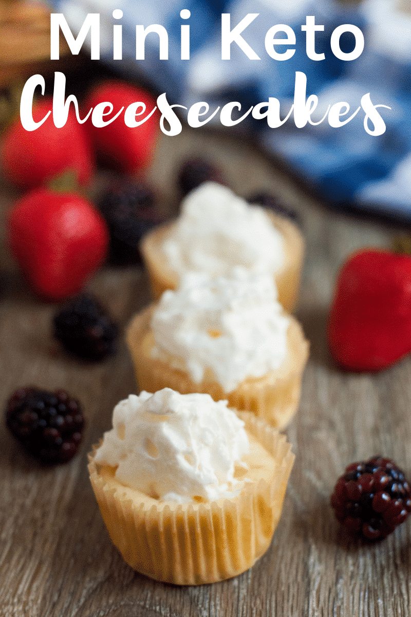 This Mini Keto Cheesecakes Recipe is a favorite way to portion control a delicious dessert and they are amazingly delicious!