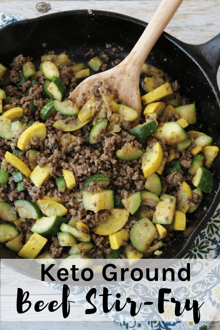 Keto Ground Beef Stir Fry Simple Amp Delicious Kasey Trenum