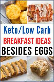 Collage of Keto Breakfast Ideas besides eggs