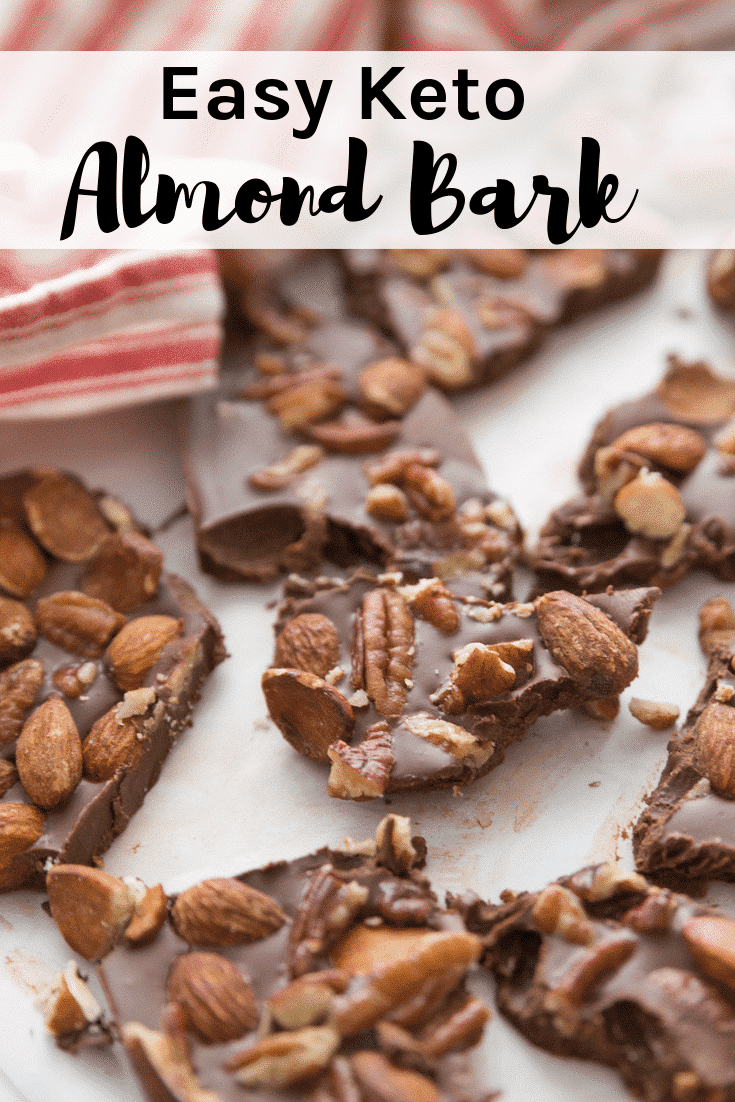 This Keto Easy Almond Bark recipe is a like a homemade candy bar with all your favorites.