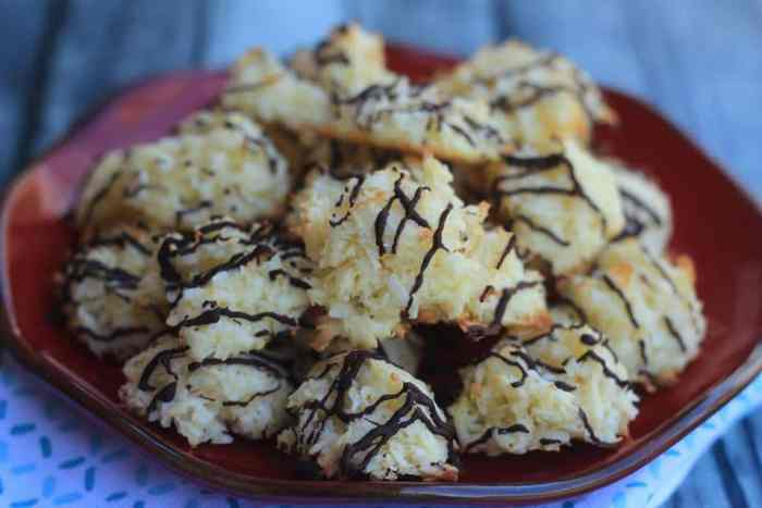 Chocolate Coconut Macaroons are an ideal Keto friendly cookie idea for your sweet treat cravings! Ideal for cookie exchanges and dessert any day!