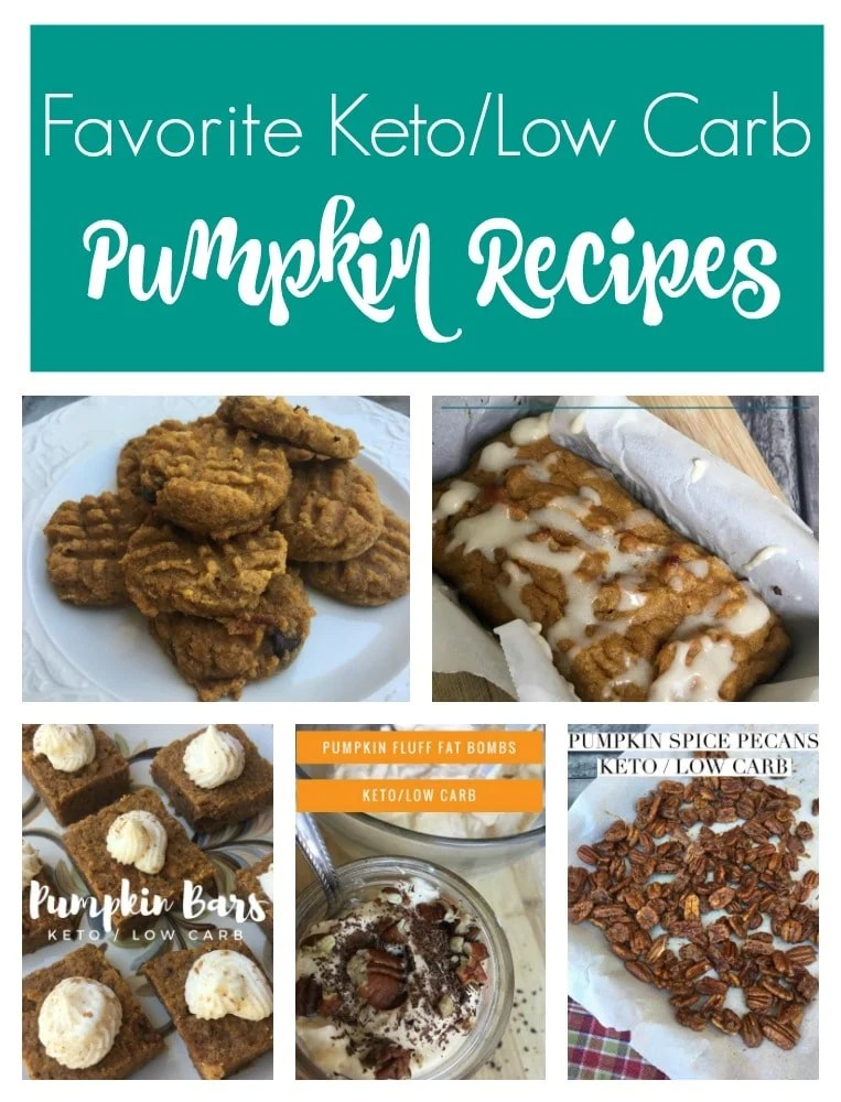 Check out my Favorite Low Carb and Keto Pumpkin Recipes! This list is chock full of amazing and low carb ideas for your favorite pumpkin spice flavor!