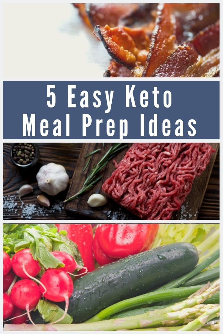 collage of keto meal prep ideas