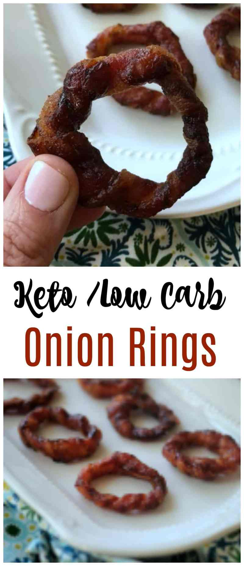 Everything is better with bacon and these BBQ Bacon Low Carb Onion Rings certainly do not disappoint. Make this keto appetizer in just minutes!