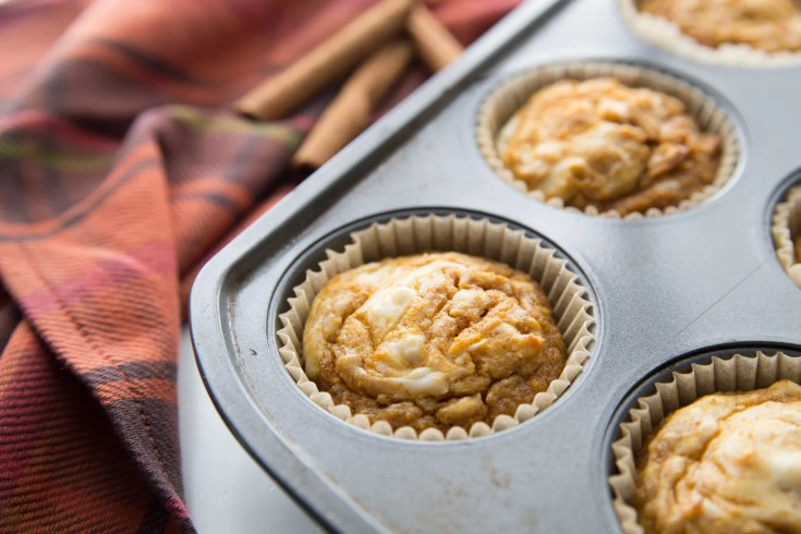 low carb muffins out of the oven in muffin tin