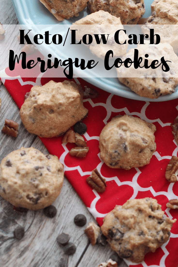 If you've been searching for a Keto Sugar-Free Meringue Cookie, this is the recipe for you with pecans and chocolate chips!