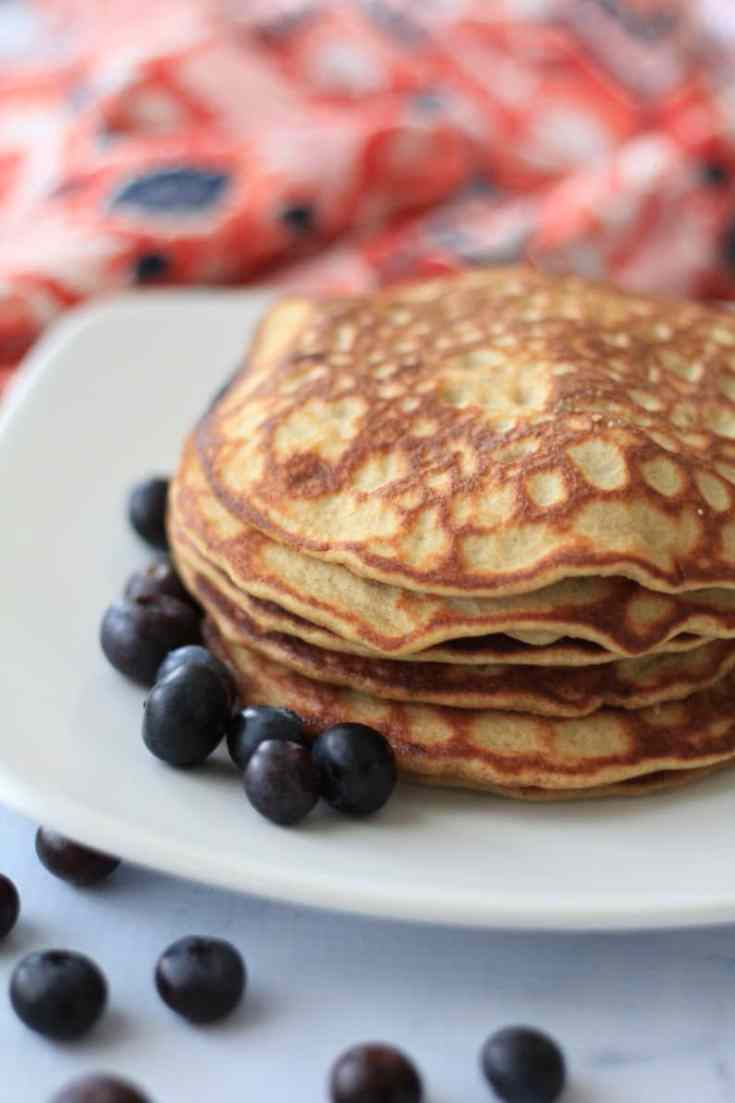 The very best low carb pancakes are light, fluffy, and delicious! #keto #lowcarb