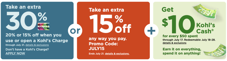 an example of kohl's coupon codes