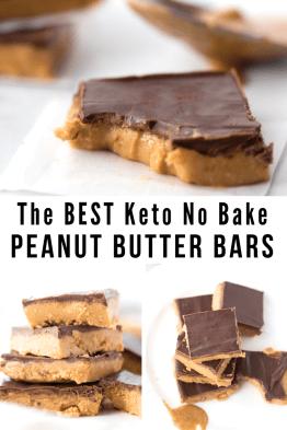 Best Keto No Bake Peanut Butter Bars