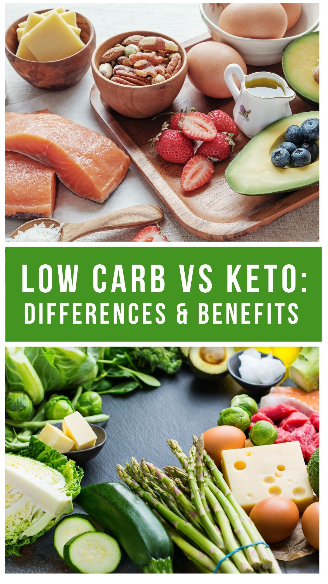 Low Carb Vs Keto Collage picture