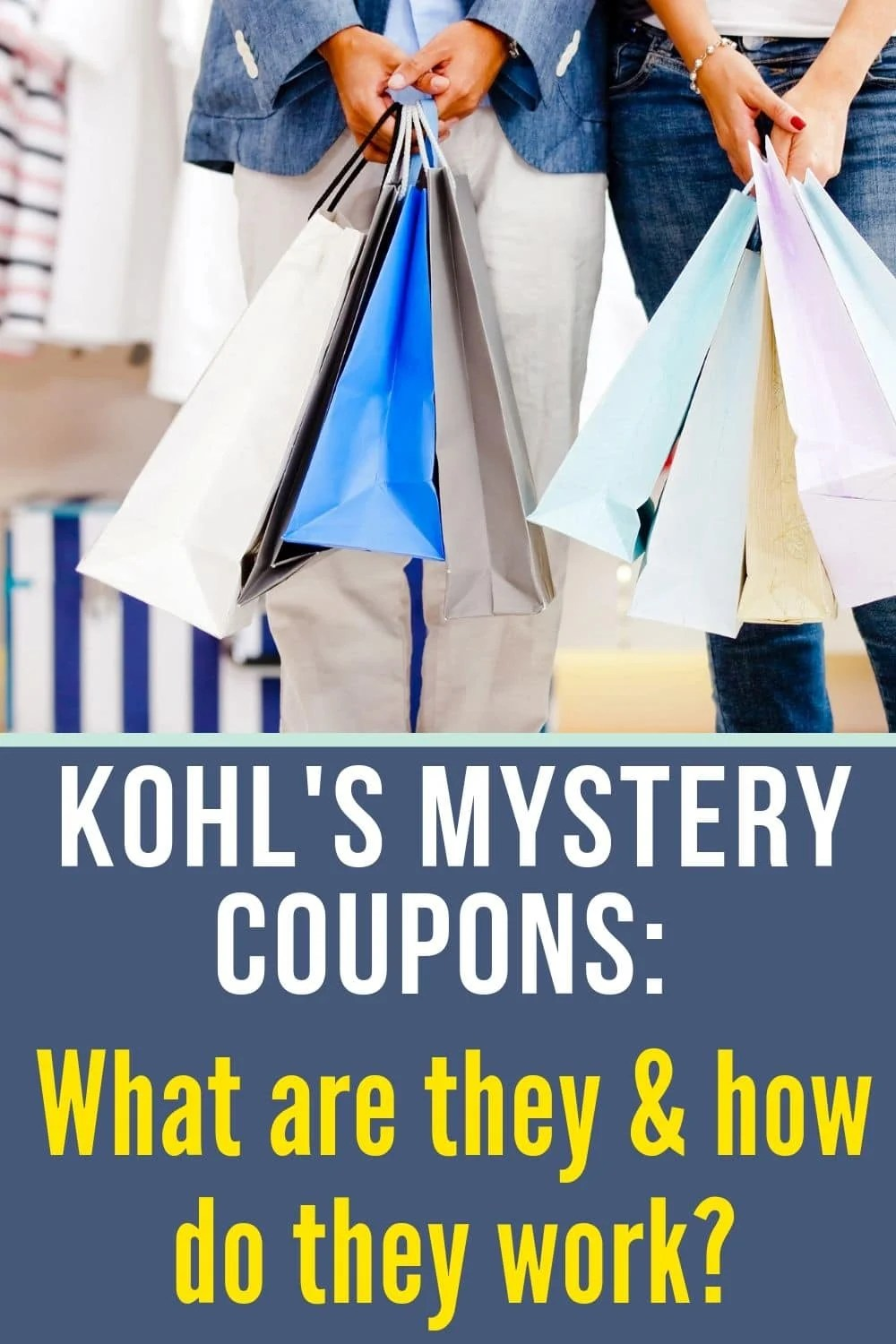 Shopping bags for Kohl's mystery coupon codes and how they work