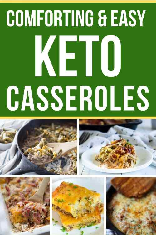 keto casserole collage