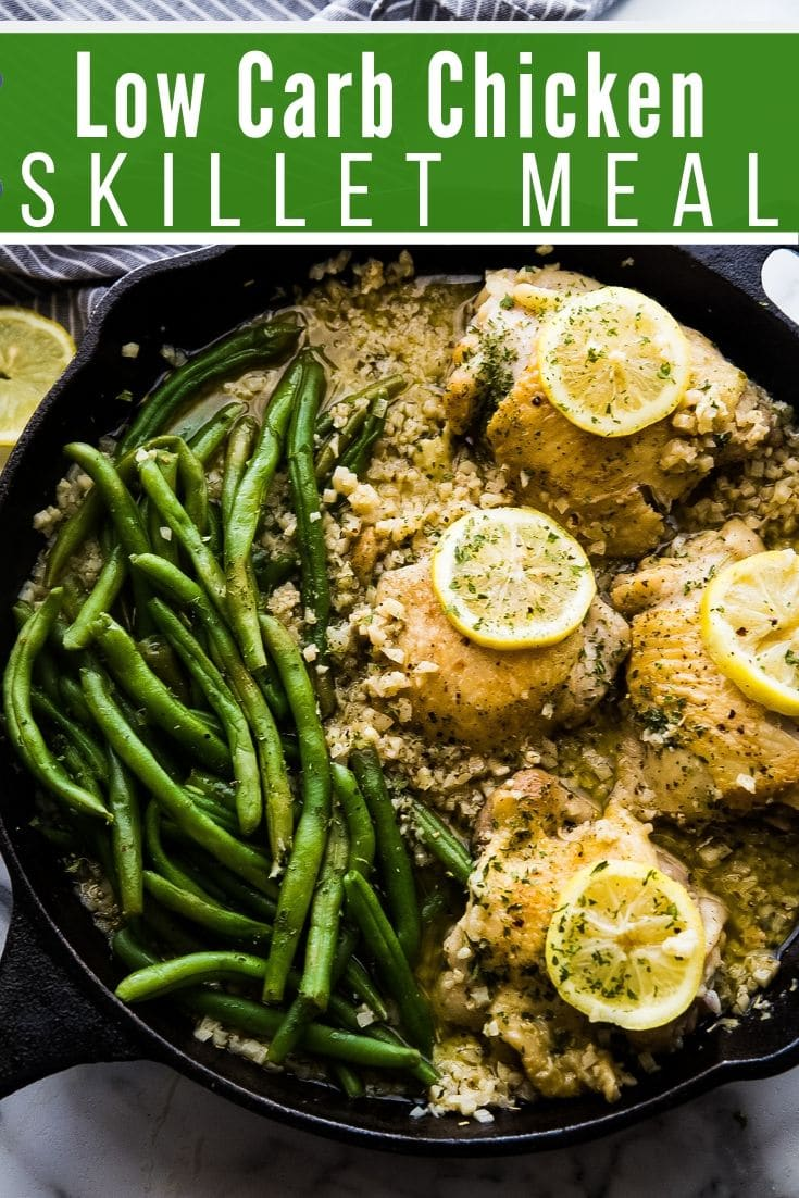 Low Carb Chicken Skillet Recipe Easy One Pan Meal Kasey Trenum