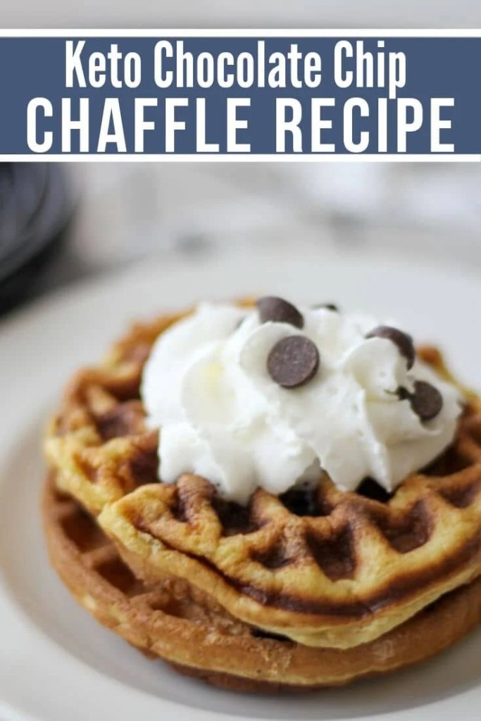 keto waffle plated