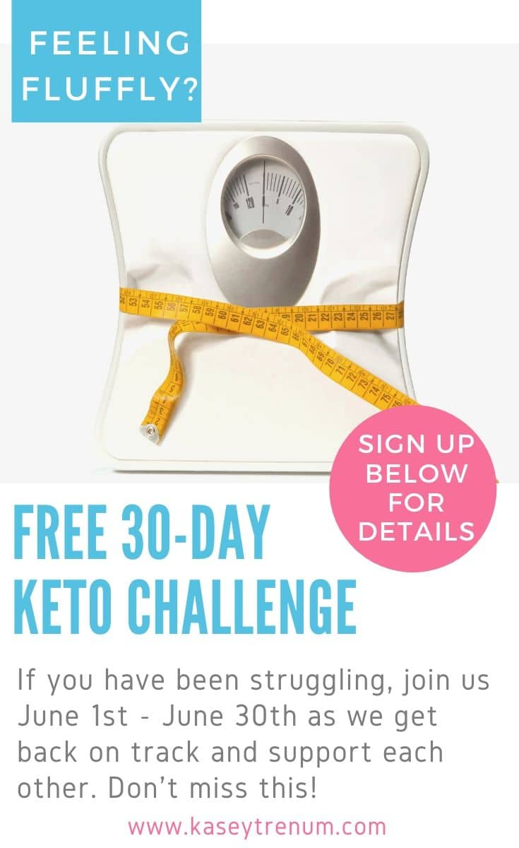 Keto 30 day challenge graphic