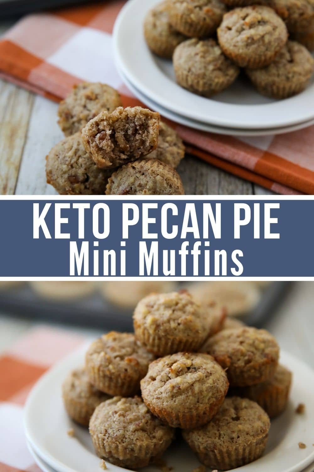keto muffin collage with pecans