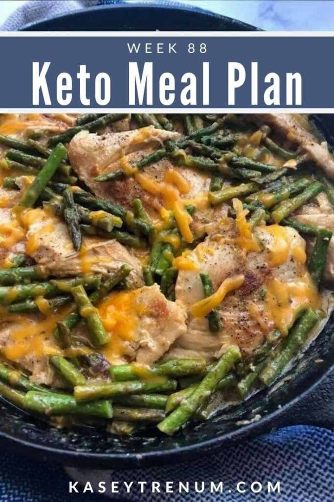 Keto Chicken and Asparagus in a Black Cast Iron Meal Plan