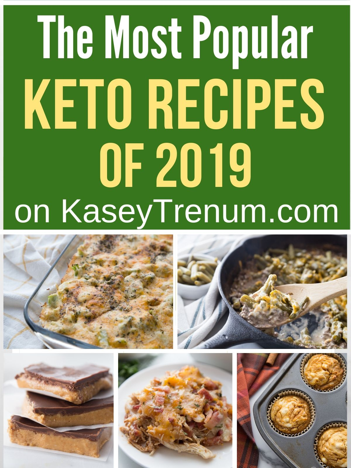 collage of recipe photos for best keto recipes of 2019
