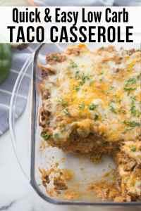 Healthy Mexican Taco Bake Casserole