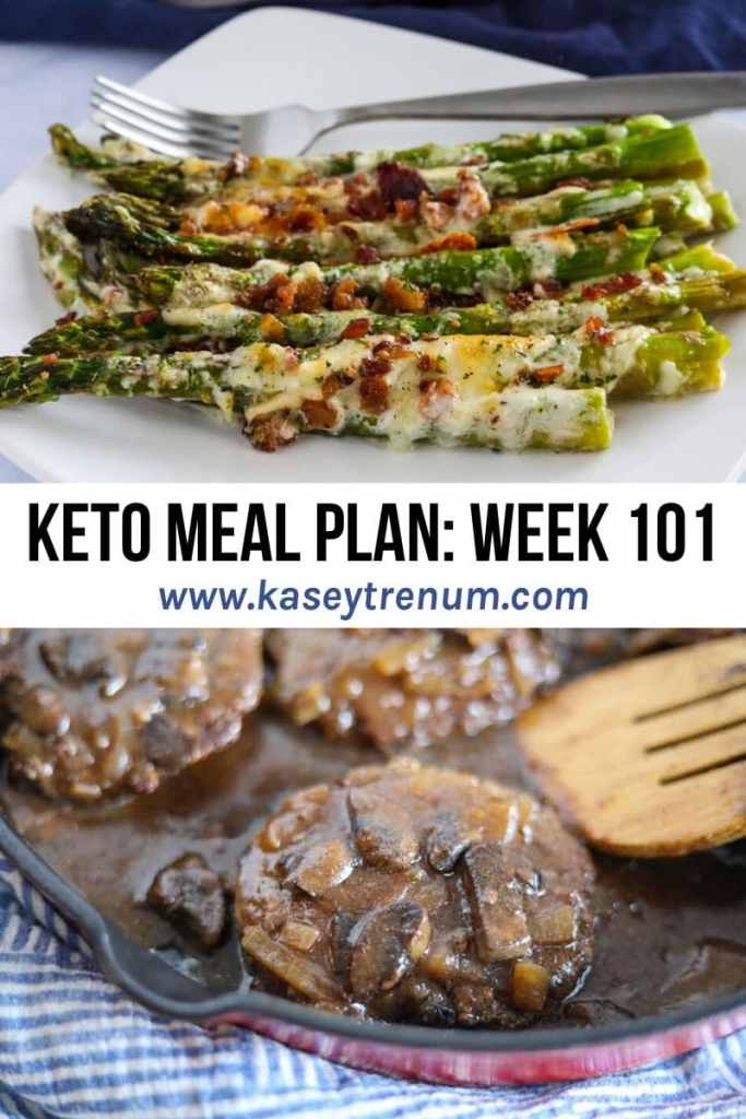 A Photo Collage of 2 Keto recipes in a Keto Meal Plan