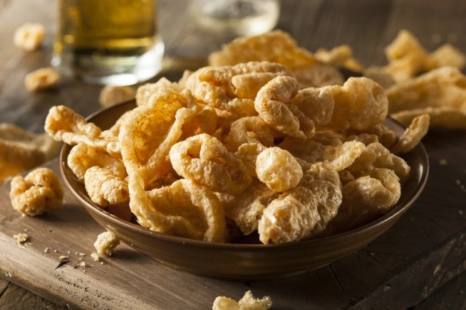 pork rinds in a bowl