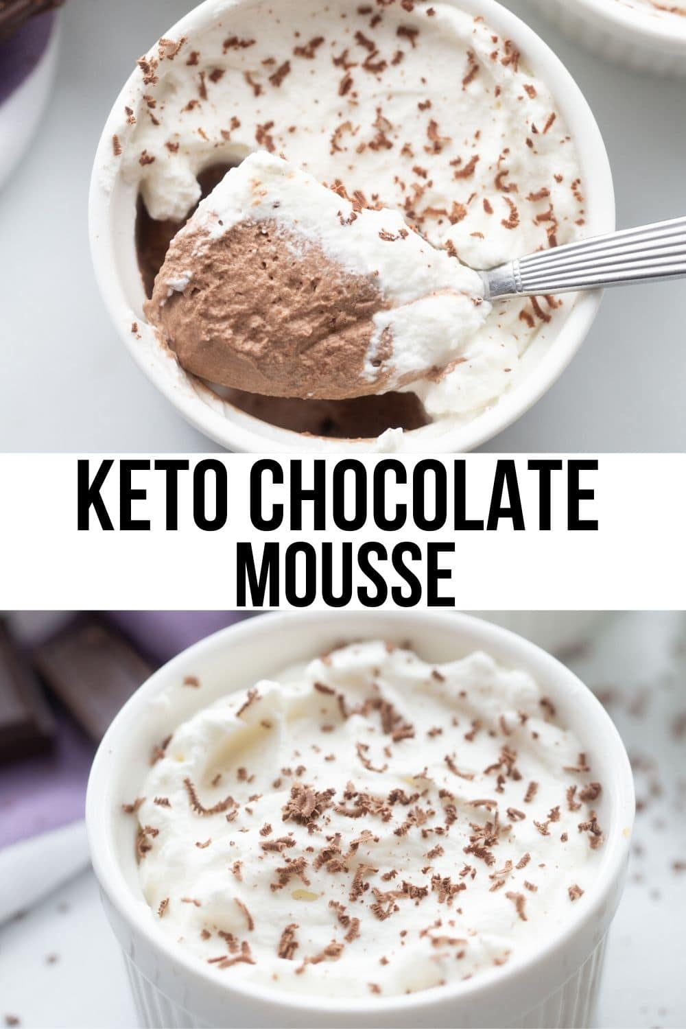collage low carb chocolate mousse