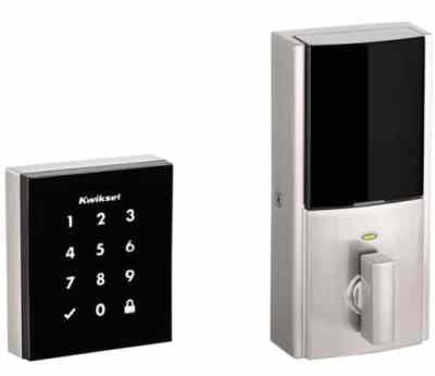 Obsidian Keywayless Electronic Touchscreen Smart Deadbolt with Z-Wave Technology
