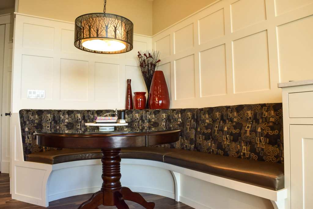 banquette and wainscot