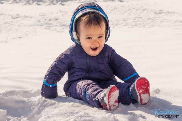 Little Boy in the Snow | NSL Utah Family Photographer | Kashele Photography