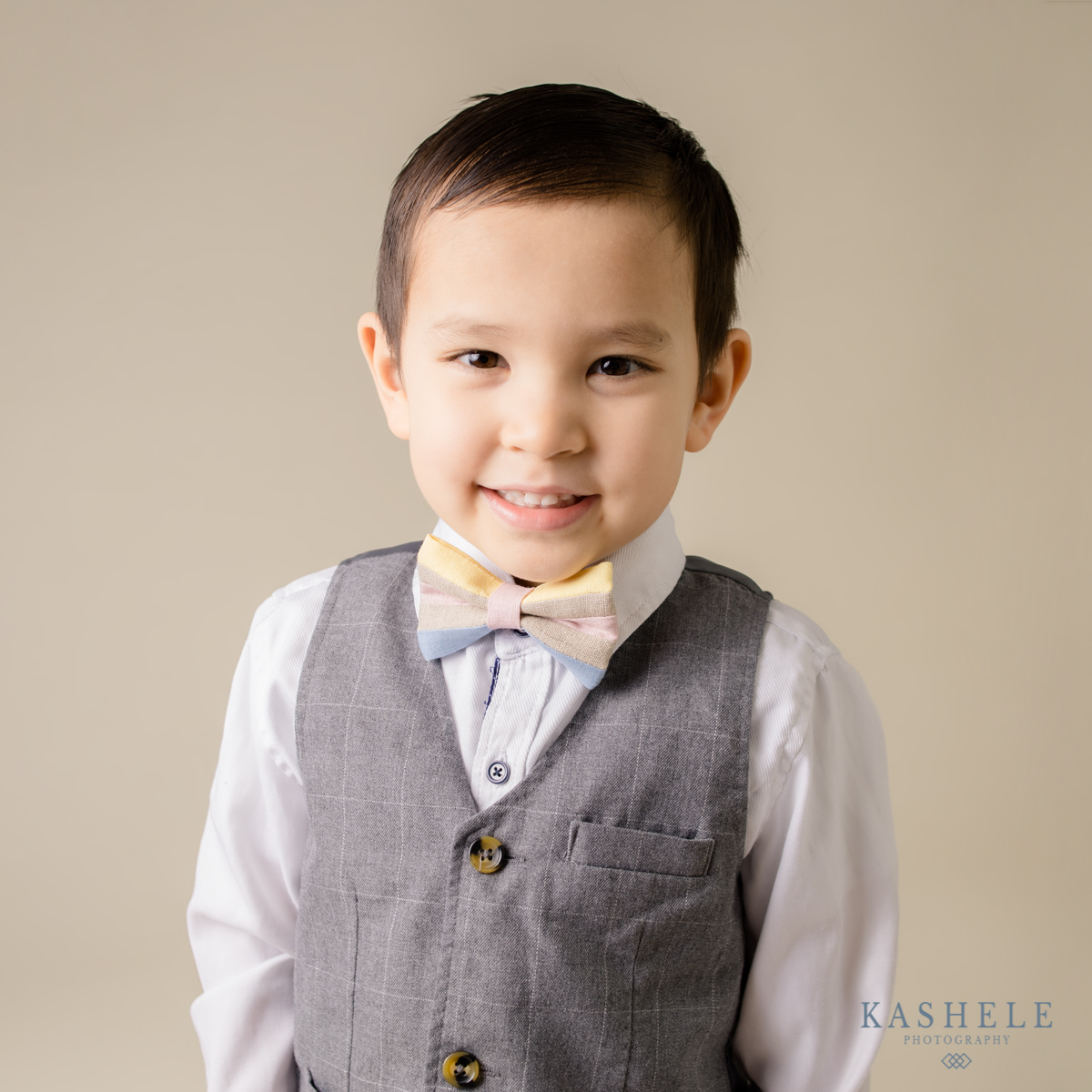 Image of little boy in an Easter My Little Itch bowtie