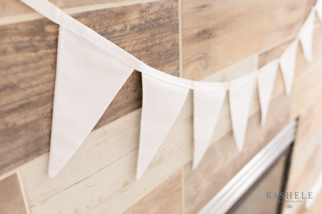 Image of white bunting banner showing texture