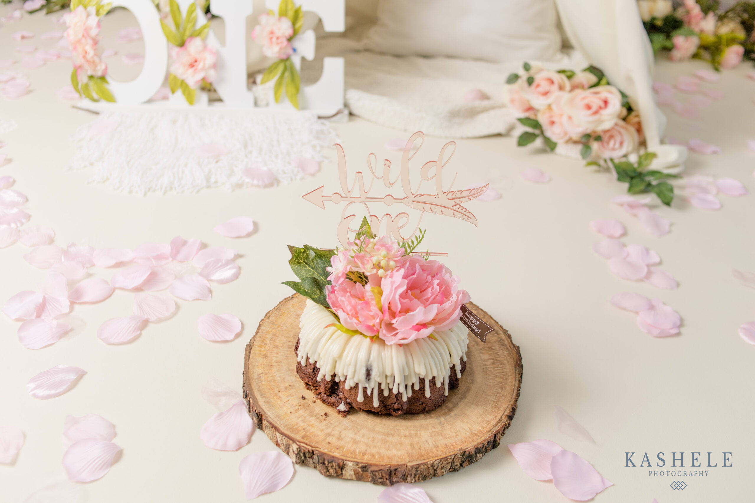 product photo of an acrylic wild one cake topper