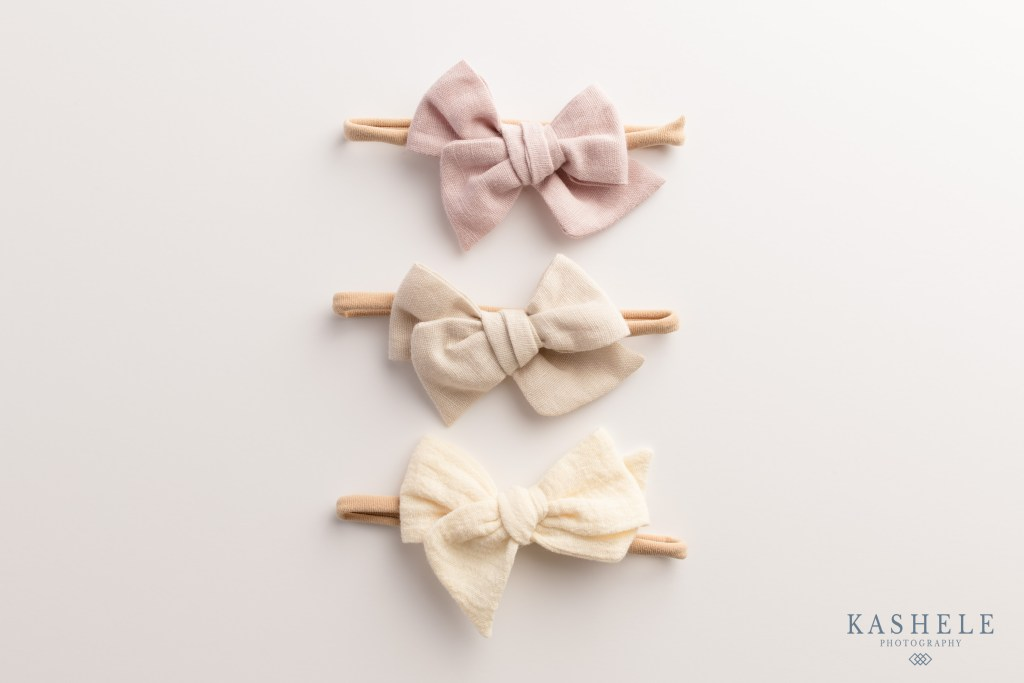 Commercial Product Photography Utah flatlay image of hairbows