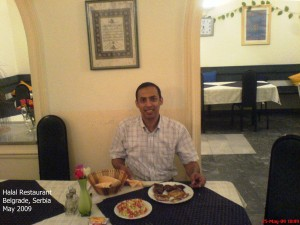 Dinner at a Muslim Restaurant in Belgrade