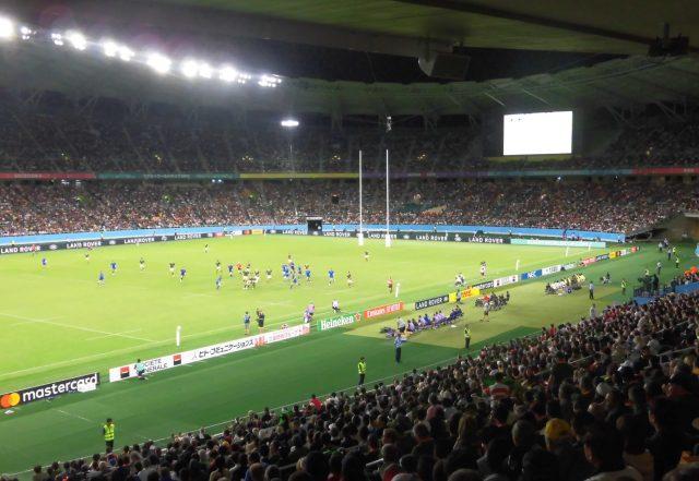 ラグビーワールドカップ2019 静岡スタジアム エコパ イタリア 南アフリカ