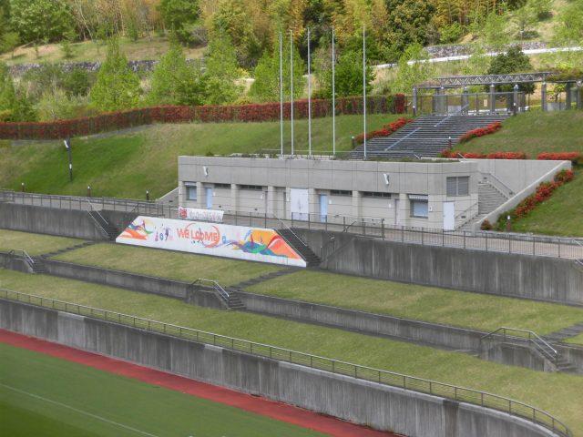 藤枝サッカー場 屋根 改修 バックスタンド