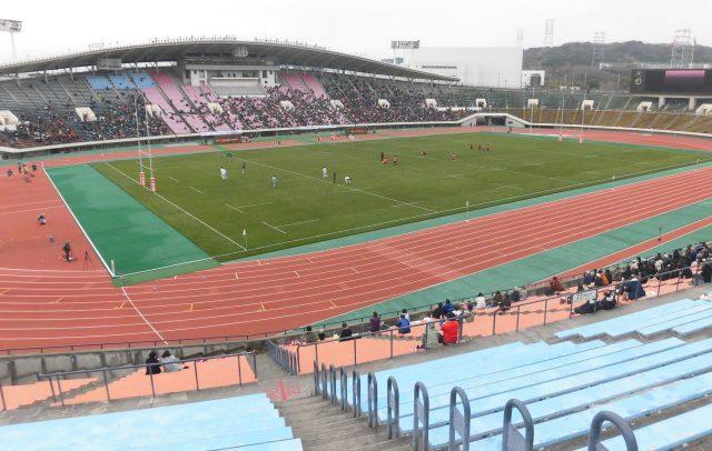 神戸ユニバー記念競技場 トップリーグ 神戸製鋼 観戦記