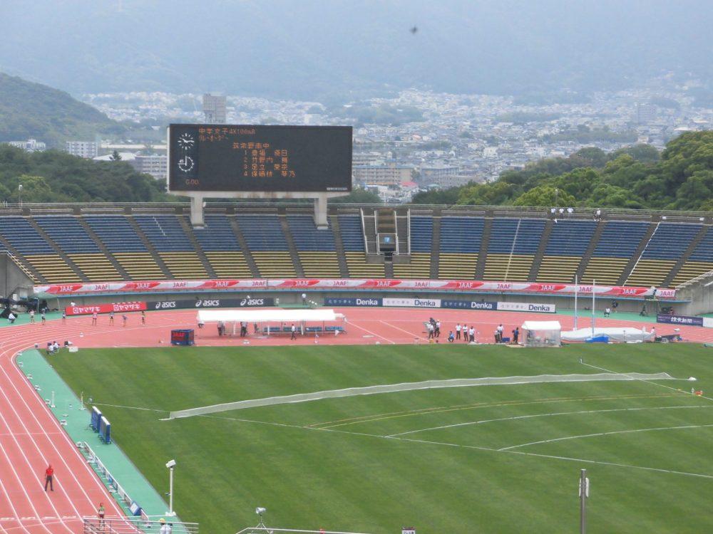 博多の森陸上競技場 日本選手権 陸上