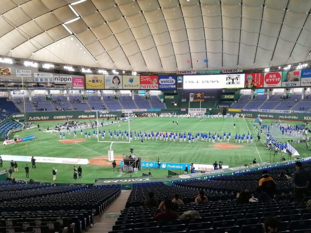 東京ドーム ライスボウル アメフト アメリカンフットボール