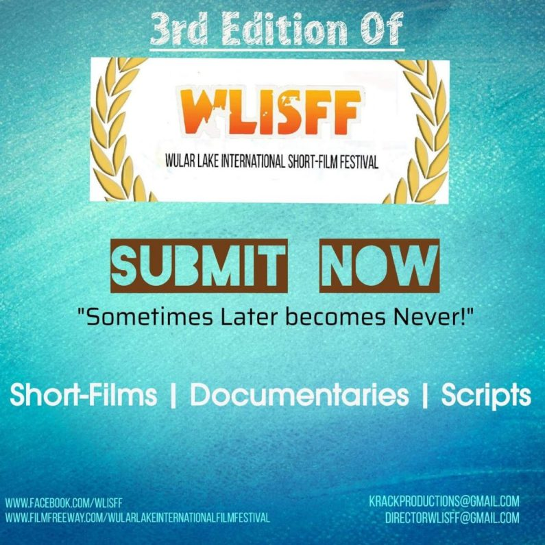 3rd Wular lake International Film Festival extends last date for submission