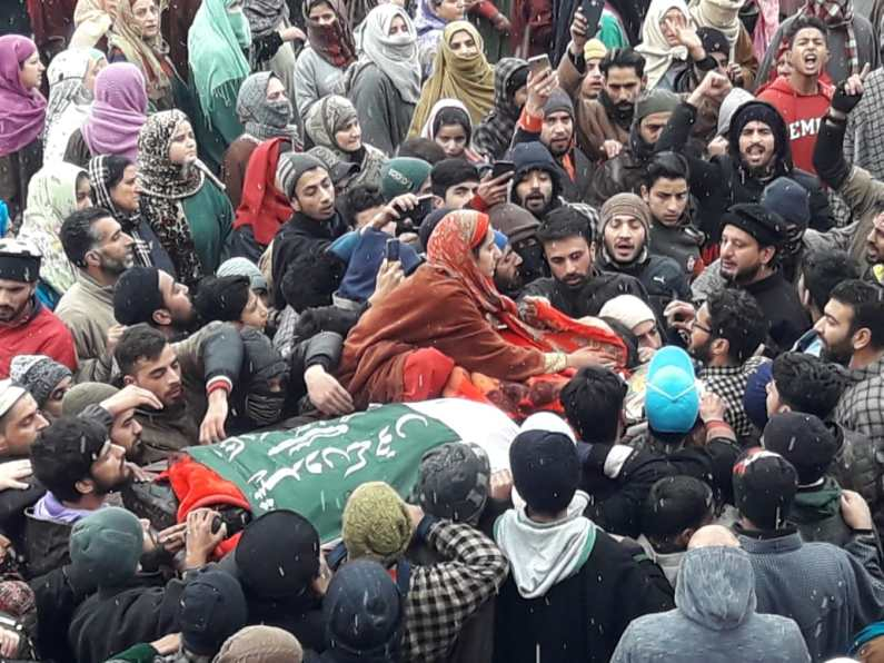 Amid tears and sobs three friends laid to rest in Baramulla