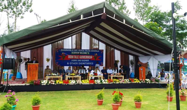 Video : Special priority for medical field in Kashmir : Governor