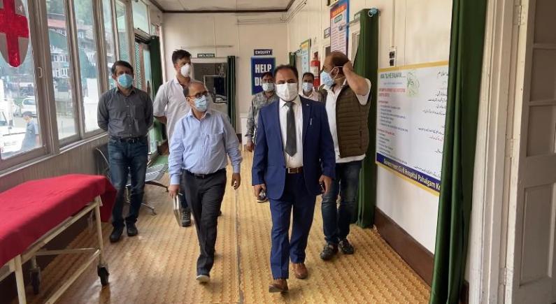 DHSK visits Pahalgam base camp, reviews arrangements ahead of ensuing Yatra