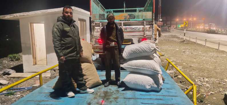Forest Department Recovers 15 Bags of MFP at Qazigund Toll Post