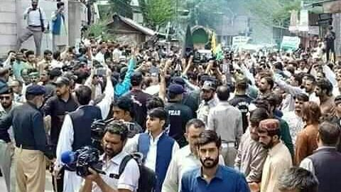AJK's Journalists attempt to cross CFL, Police stopped